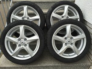 Brock Rc30 16 Silver Smart Fortwo Forfour 453 Alloy Wheels Winter Michelin