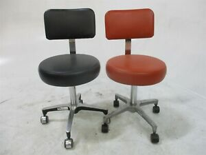 Lot Of 2 Dental Furniture Stools For Dentistry Operator Operatory Seating