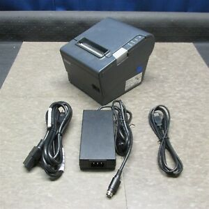 Epson Tm t88v M244a Pos Ethernet Usb Thermal Receipt Printer W Pwr Supply