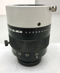 Wild Heerbrugg Makrozoom 1 5 6 3 32x M400 Stereo Microscope Zoom Objective Lens