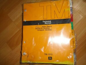 John Deerejd740 a Skidder Grapple Skidder Technical Repair Manual Tm1213 Sealed