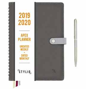 Apex Planner 2019 Weekly Monthly Dated Calendar Personal Agenda Organizer For