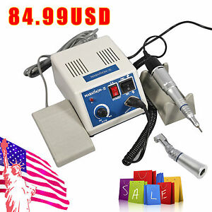 Dental Lab Marathon Micromotor 35k Pm N3 straight Handpiece contra Angle Sk d4