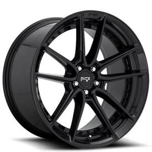 4 Set 18 Staggered Niche M223 Dfs Black Wheels And Tires