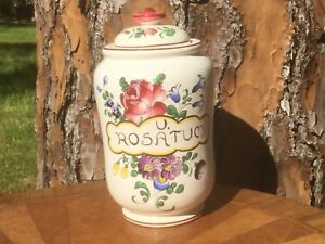 Pharmacy Jar Antique Apothecary French Faience Hand Painted C18th C Ff367
