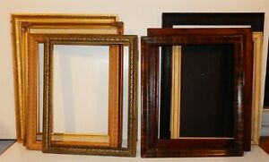 Lot Of 8 Vintage Wooden Picture Frames 9x12 10x12 10x13 5 11x14 Rabbet