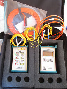 Noyes Ols4 Optical Light Source Opm4 2 c Power Meter Fiber Optic Loss Tester