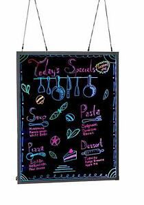Alpine Aluminum Led Hanging Writing Memo Board Business 32 X 40 Message Sign