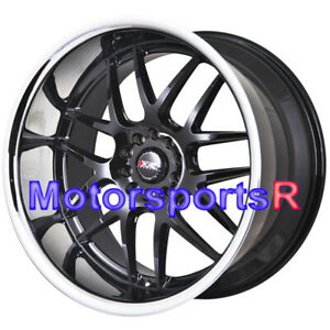 Xxr 526 20 X 9 11 Black Polished Deep Lip Wheels Staggered Rims 5x114 3 Stance