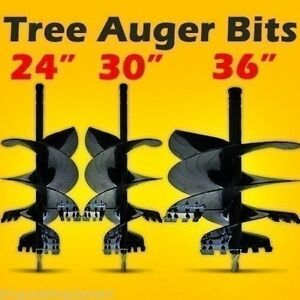 Tree Auger Bit Assortment For Skid Steer Loaders hex Or Round Drive 24 30