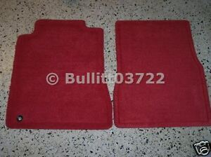 2005 2006 2007 2008 2009 Mustang Red Carpeted Floor Mats 2 Piece Set