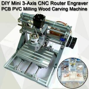 Mini 3 Axis Cnc Router Engraver Pcb Pvc Milling Wood Carving Engraving Machine