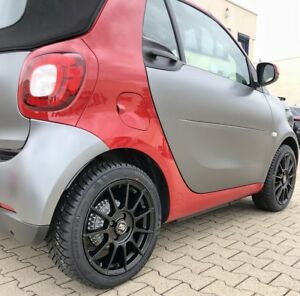 Msw 85 Alloy Wheels Smart Fortwo 453 Winter Tyres Kumho 16 Matte Black By Oz