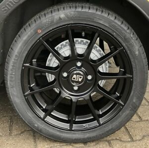 Msw 85 Alloy Wheels Smart Fortwo 453 Hankook Einter Tires 16 Black By Oz