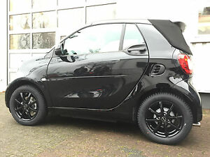 Winter Wheels Smart Fortwo Forfour 453 Alloy Wheels Borbet Black Conti Rdks