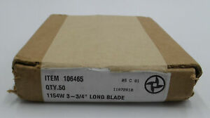 Speco Weiler Blades 106465 1154w 3 3 4 Long Blade 50 Count Box
