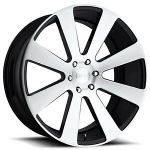 4 Set 22 Dub Wheels 8 Ball S214 Gloss Black With Brushed Face Rims Fs