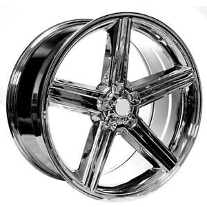 Qty4 24 Iroc Wheels Chrome 5 Lugs Rims Fs