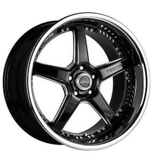 4 set 19 Vertini Wheels Drift Black With Chrome Ss Lip Rims Fs