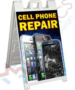 Cell Phone Repair Signicade 2 Sided A frame Sign Sidewalk Store Street Sign Aa02