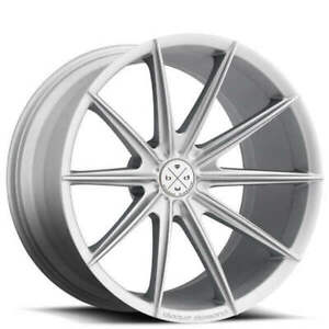 4new 19 Staggered Wheels And Tires Blaque Diamond Bd 11 Frozen Silver