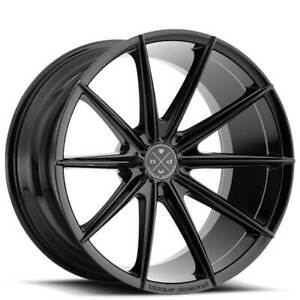 4new 19 Staggered Wheels And Tires Blaque Diamond Bd 11 Gloss Black