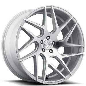 4new 19 Staggered Wheels And Tires Blaque Diamond Bd 3 Silver Machined