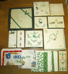 Lot Of Irish Linens Tablecloths Hankerchiefs Napkins Etc