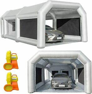 28x15x10ft Inflatable Spray Booth Paint Tent Mobile Portable Car Workstation