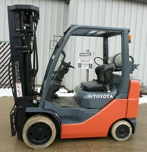 Toyota Model 8fgcu25 2008 5000 Lbs Capacity Great Lp Cushion Tire Forklift