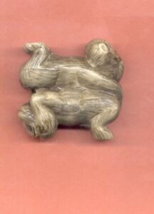 Two Monkey Colored Netsuke Japanese 491 B