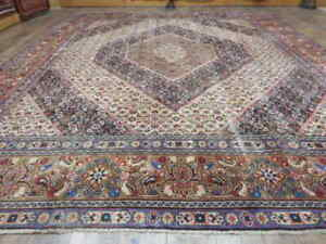 C1880 Vg Dy Antique Moud Mouud Herati Bijar Bijdar 9 4x11 5 Estate Sale Rug
