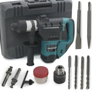 1 1 2 Electric Rotary Hammer Drill Bit Sds Plus Demolition 1100w Concrete Steel