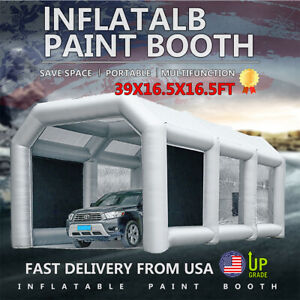 39x16 5x16 5ft Inflatable Spray Booth Paint Tent Mobile Portable Car Workstation