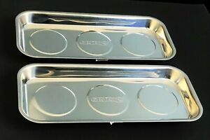 2 Grip Tools 6 X 14 Polished Stainless Steel Magnetic Parts Tray Socket 67444