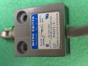 Micro Switch 914ce3 9 Miniature Limit Switch Snap Action Cross Plunger Roller 3a