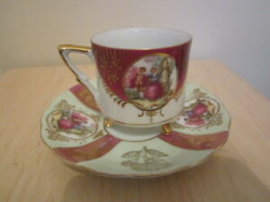 Vintage Footed Teacup Saucer Royal Sealy China Japan