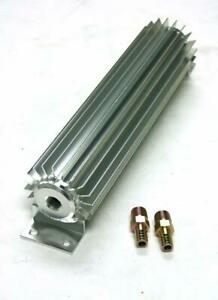 18 Silver Aluminum Finned Single Pass Transmission Cooler Extra Cooling
