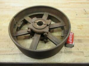 Antique Hit Miss Gas Steam Engine Line Shaft Flat Belt Pulley 2 Piece 18 X 7