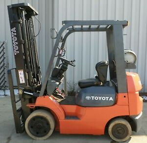 Toyota Model 7fgcu20 2001 4000 Lbs Capacity Great Lp Cushion Tire Forklift