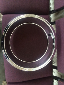 14x6 Chrome Over Stainless 2 25 Inch Trim Rings