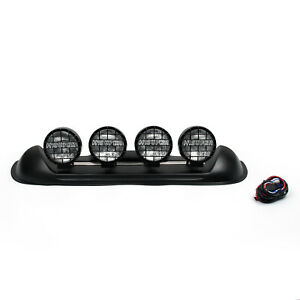 Four White Lens 4x4 Off Road Roof Top Fog Jeep H3 Bulbs Light Bar Suv 601 At1