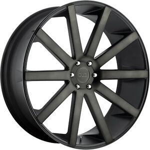 30x10 Black Flake Dub Shot Calla S121 Wheels 6x5 5 30 Gmc Yukon 1500