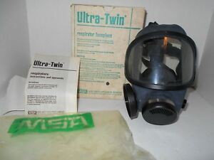 Msa Safety 480259 Ultra twin Silicone Full face Piece Respirator Med Blk Read