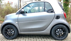 Winter Wheels Black Smart Fortwo 453 Msw X4 By Oz Alloy Rims Tyres Hankook