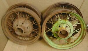 1930 1931 Model A Ford Wire Wheel Set 4 Coupe Sedan Banger Man Cave Originals