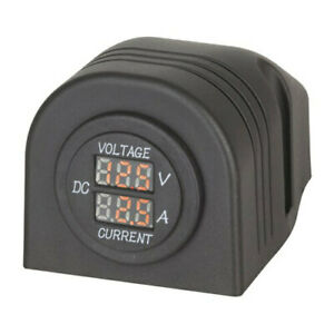 Techbrands Panel surface Mount Led Voltmeter And Ampmeter Free Global Shipping