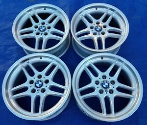 Bmw E38 Oem Factory Mpar Mparallel 18x8 Style 37 Forged Wheels Square Set Rims