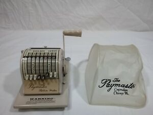 Paymaster Ribbon Writer 8000 Series Check Writer Made In The U s a