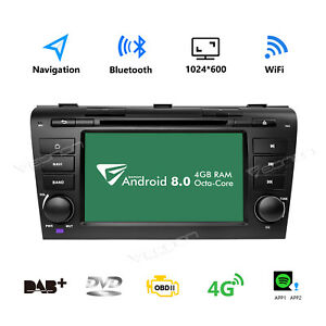 Ga9151b Android 8 0 7 Car Stereo Dvd Player Gps Radio Obd For Mazda 3 2004 09 L